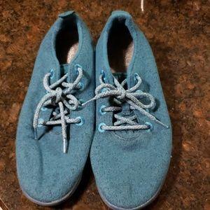 Allbirds shoes in teal